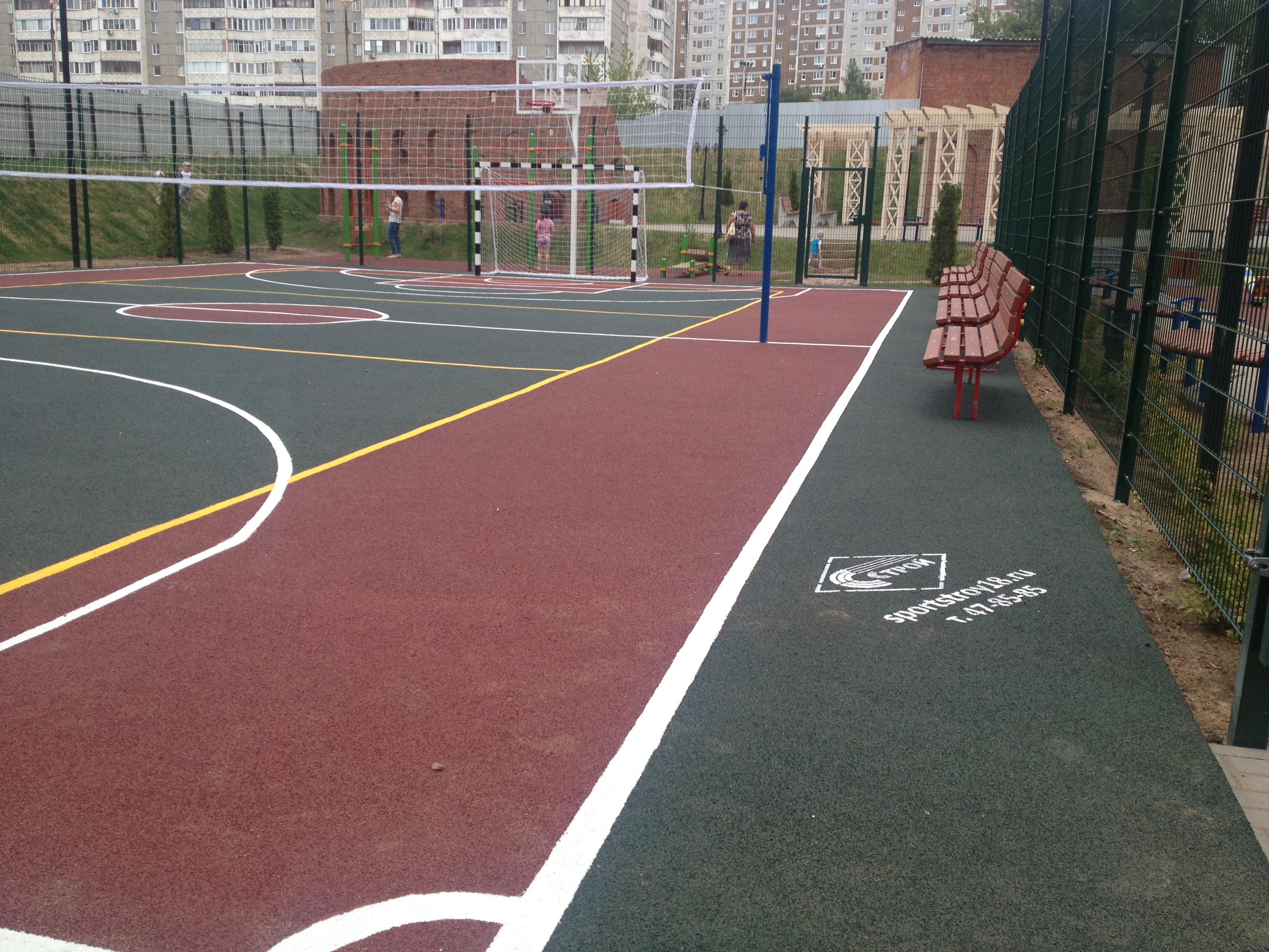спортивные резиновые покрытия, покрытия для спортивных площадок